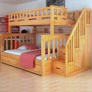 Mẫu giường tầng gỗ thông - VGT 1